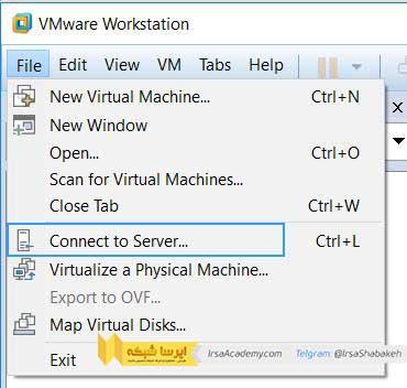 نحوه اتصال و مدیریت سرور یا Esx در Vmware Worksttaion 14